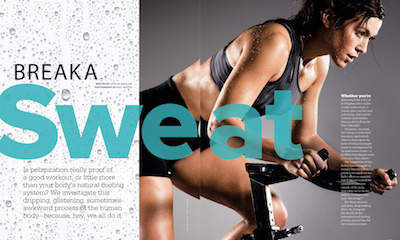 Sweating article in Us strong magazine